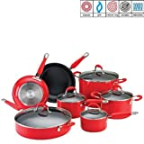 Ethos 7-Piece Red Cookware Set