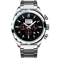 オニツカタイガー腕時計 [ OnitsukaTiger時計 ]( Onitsuka Tiger 腕時計 オニツカ タイガー 時計 ) クロノグラフ モデル ( CHRONOGRAPH MODEL ) メンズ腕時計/ブラック...