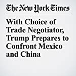With Choice of Trade Negotiator, Trump Prepares to Confront Mexico and China | Binyamin Appelbaum