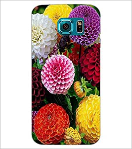 PrintDhaba Flowers D-2053 Back Case Cover for SAMSUNG GALAXY S6 EDGE (Multi-Coloured)
