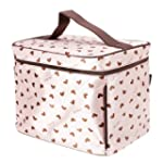 Cute Heart-Pattern Cosmetic Bag Makeu...