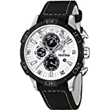 Festina Men's Chronograph Watch F16566/1 with Other Strap and White Dial