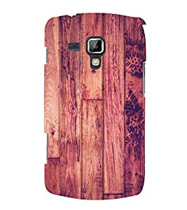 Polish Wood Pattern 3D Hard Polycarbonate Designer Back Case Cover for Samsung Galaxy S Duos S7562