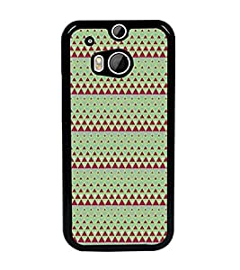 PrintDhaba Pattern D-5243 Back Case Cover for HTC ONE M8 (Multi-Coloured)