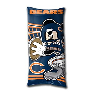 NFL Chicago Bears Mickey Mouse Fold-Up Body Pillow