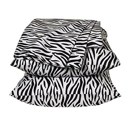 Xhilaration Black And White Zebra Striped Sheet Set - Queen front-400697
