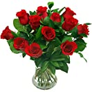 Clare Florist 12 Luxury Red Roses Fresh Flower Bouquet...
