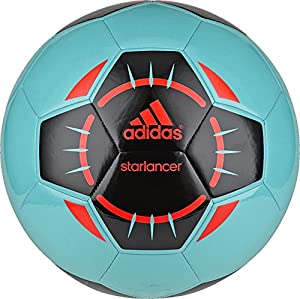 adidas Performance Starlancer IV Soccer Ball, Vivid Mint/Black/Solar Red, 3