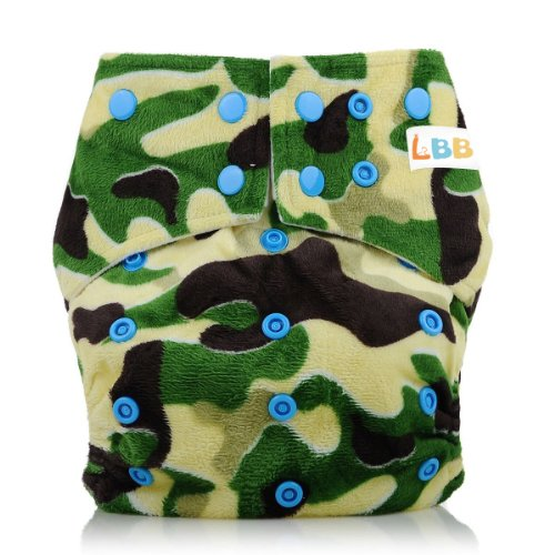 Lbb(Tm) Baby Resuable Washable Pocket Cloth Diaper With Adjustable Snap,Army Green