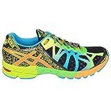 Asics Men's Gel Noosa Tri 9 Running Shoes - Black/Blue/Green/Yellow, Size 7.5