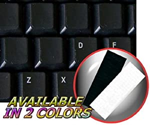 BLANK KEYBOARD STICKERS ON BLACK BACKGROUND