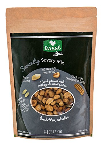 Serenity Savory Trail Mix & Snack Party Mix from Basse Alive, 8.8oz Bag with BBQ Toasted Corn Nuts, Smoke Jalapeno Cheddar Cheese Sticks, and Peanut Nutrition; Trail Mix Energy with Good Calories (Corn Nuts Cheddar compare prices)