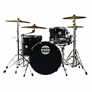 dixon outlaw series ol 422p obsn 4 piece drum set obsidian black cymbals. Black Bedroom Furniture Sets. Home Design Ideas