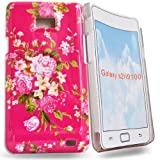 Phonedirectonline - Pink roses hard case cover pouch for samsung galaxy s2 i9100
