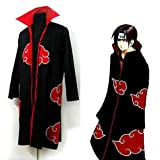 Japanese Anime cosplay costumes NARUTO Akatsuki Members Costume Cloak L