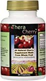 TheraCherry - #1 Tart Cherry Product - Over 16 Xs the ORAC Antioxidant Potency of Cherry Juice as Tested by Brunswick Laboratory - All Natural Whole Fruit Supplement from Only U.S.A. Montmorency Cherries For Optimal Joint and Muscle Support - Highest Natural Source of Melatonin To Aid Sleep - Manufactured in FDA Approved Facility With 30-Day Supply and 100% Satisfaction Guarantee