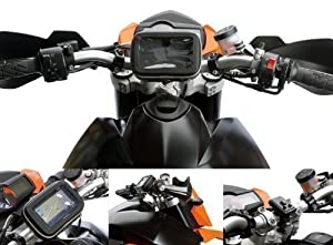 Motorcycle Quick Release Bike Handlebar Mount with Waterproof GPS Case for TomTom One Models up to 5""
