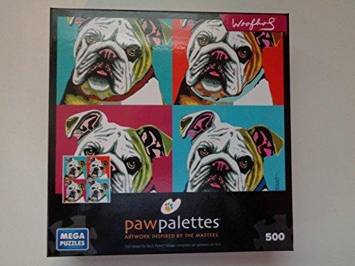 Paw Palettes 500 Piece Puzzle Black Lab