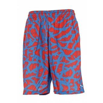 Jordan Nike Mens Fragmented Ele Basketball Shorts-Blue Red by Jordan