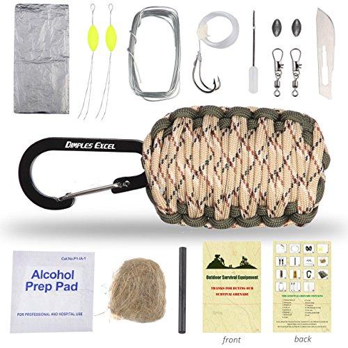 "Dimples Excel Carabiner ""Grenade"" Survival Kit (Desert Camo + Army Green)"