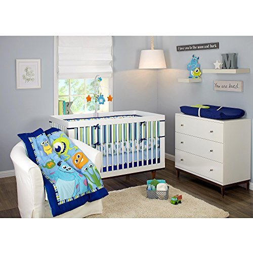 Disney Baby Monsters Inc 4 Piece Crib Bedding Set (Monsters Inc Toddler Blanket compare prices)