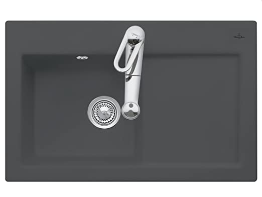 Villeroy Boch Subway 45 &Graphite Grey Kitchen Sinks Inset Ceramic Sink