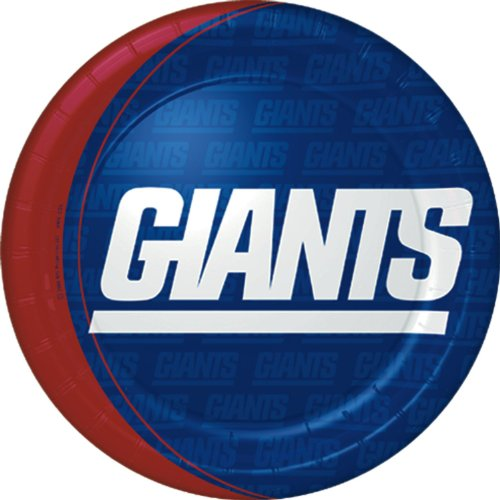 New York Giants Dinner Plates (8) Party Supplies - 1