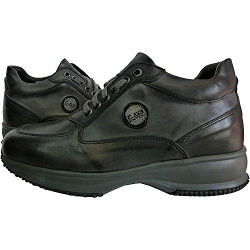 Exton pelle scarpe uomo 1039 - Sneaker Crust Sasso M0044 0 0001, made in italy, Grigio (43)