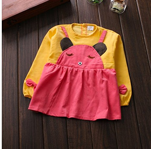 1 Pcs Baby waterproof cotton corduroy dress baby clothes bib apron,baby feeding Eating playing aprons Artists Classroom painting Aprons smock,game mother more at ease yellow strap bear style