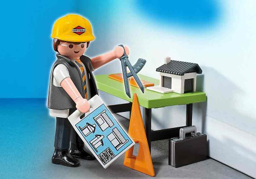 Playmobil Architect With Planning Table 5294 front-1059371