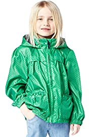 Hooded Shower Resistant Spotted Jacket