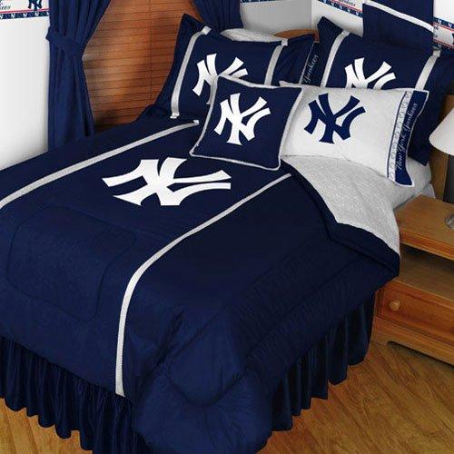 Mlb New York Yankees King Bedding Set Baseball Team Ny Logo Bed