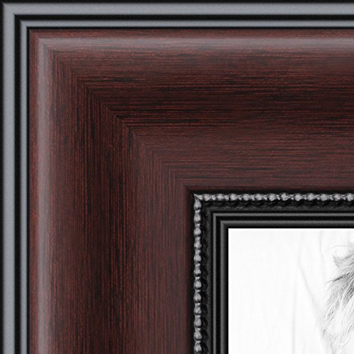 ArtToFrames 11x14 inch Mahogany and Burgundy With Beaded Lip Picture Frame, WOMN9590-11x14 (Fotos Cuadros compare prices)