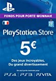 Carte Playstation Network 5 EUR [Code Jeu PSN PS4, PS3, PS Vita - Compte français]