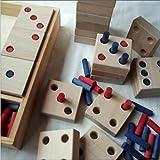 El dominó del juego del dominó junta las piezas de NUEVOS JUEGOS de los 8cm