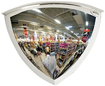 See All Panaramic Quarter Dome Plexiglas Security Mirror, 90 Degree Viewing Angle