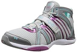 RYKA Women\'s Tenacity Cross-Training Shoe, Cool Mist Grey/Frost Grey/Dahlia Mauve/Aqua Sky/Steel Grey, 9 M US