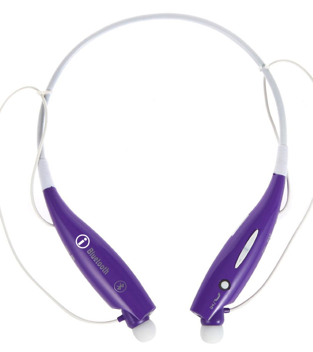 Universal S Gear -HV-Digitial 800 Wireless Music A2dp Stereo Bluetooth Headset Neckband Style Earphone Headphone performance flexible comfort quick Foldable PURPLE