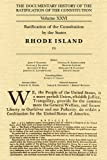 The Documentary History of the Ratification of the Constitution Volume XXVI: Ratification of the Constitution by the States, Rhode Island [3]