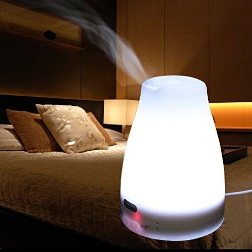 Noza Tec Aroma diffusore d'Oli Essenziali ad Ultrasuoni Luce Cambio 7 Colori Umidificatore Raffreddamento Mist Aroma