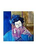Legendarte Pintura al Óleo sobre Lienzo Geisha