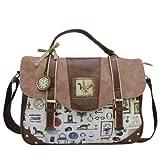 Disaster Designs Granny's Attic Large Satchel Style Shoulder Bag