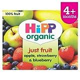 HiPP Organic Purely Fruits Apple, Strawberry & Blueberry 4 x 100g