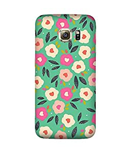 Floral Print Back Cover Case for Samsung Galaxy S6 Edge
