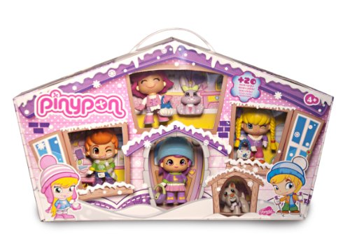 Famosa 700010268 - Pinypon Pack 4 Personaggi Neve