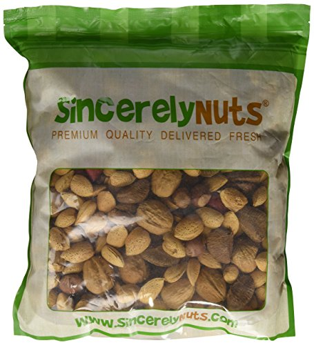 Sincerely Nuts Raw Mixed Nuts in Shell - Five(5) Lb. Bag. - Walnuts, Filberts, Almonds, Brazil Nuts, Pecans - Insanely Delish - Impossibly Crunchy - Filled With Minerals & Vitamins - Kosher (Mixed Raw Nuts compare prices)