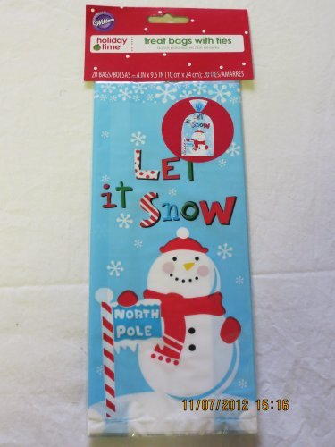 Chistmas 20 Treat Bags with Ties by Wilton