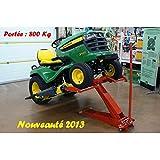 Lève tracteur tondeuse hydraulique capacité 800 Kg, facilite le nettoyage et l'entret