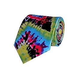 Tiekart Multicolor Self Design Men Tie