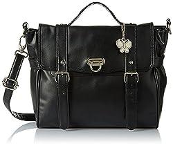 Butterflies Women's Handbag (Black) (BNS 0312)